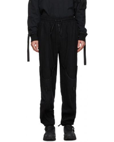Czarne spodnie bawełniane zapinane na guziki Blackmerle