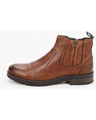 Коричневые кожаные ботинки Wrangler