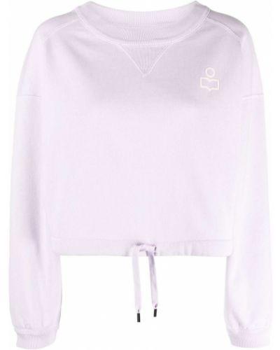 Różowa bluza długa bawełniana z długimi rękawami Isabel Marant