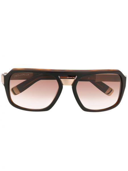Прямые муслиновые солнцезащитные очки квадратные хаки Dsquared2 Eyewear