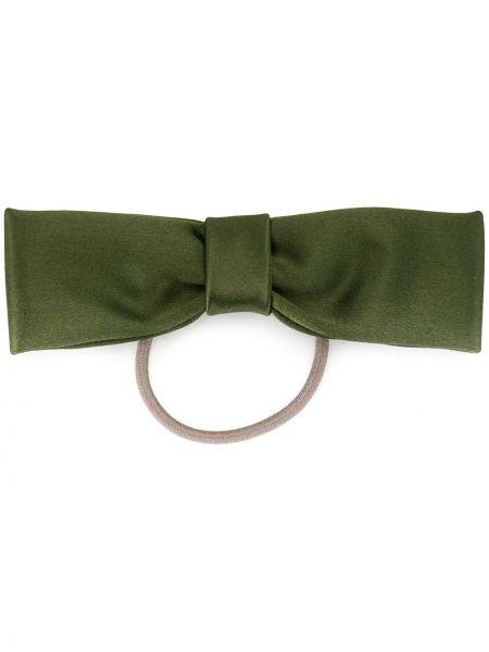 Зеленая резинка для волос на резинке с бантом Le Monde Beryl