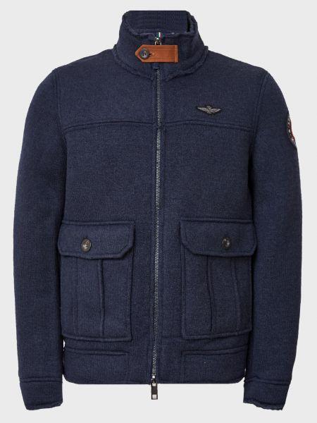Куртка на молнии - синяя Aeronautica Militare