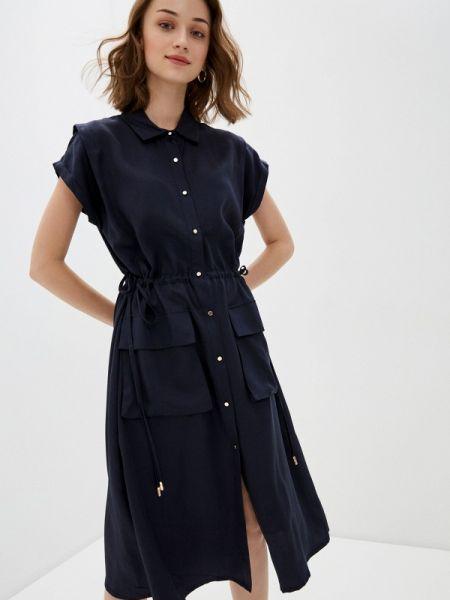 Платье платье-рубашка синее Bulmer