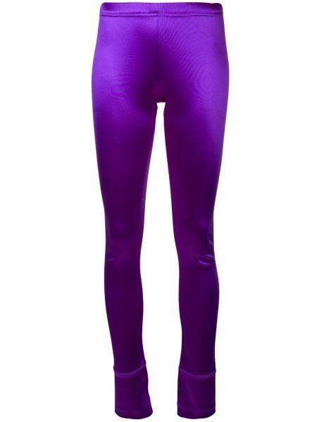 Зауженные нейлоновые фиолетовые леггинсы Junya Watanabe