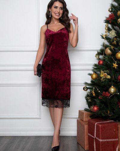 Бархатное кружевное модное платье Belluche