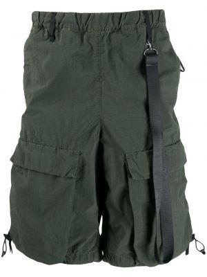 Нейлоновые зеленые шорты карго с карманами милитари Nemen