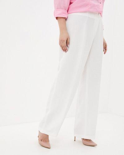 Расклешенные белые брюки Ulla Popken