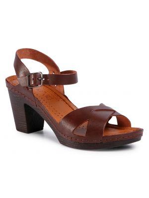 Sandały, brązowy Lasocki