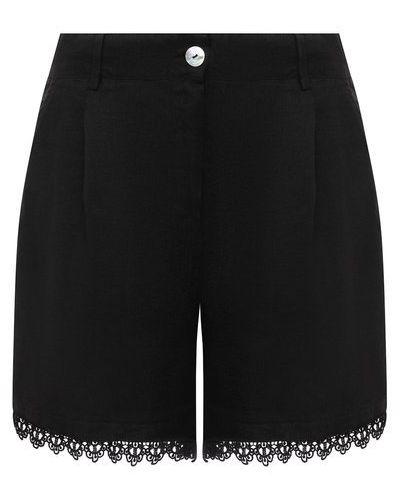 Повседневные шорты - черные La Fabbrica Del Lino