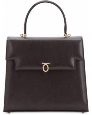Кожаная сумка с ручками Launer