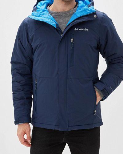 Утепленная куртка осенняя синяя Columbia