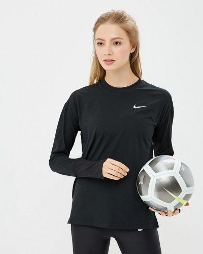 Черный спортивный лонгслив Nike
