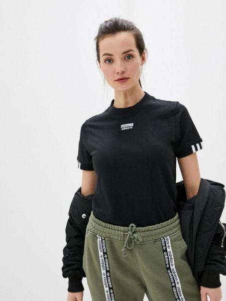Поло футбольный черное Adidas Originals