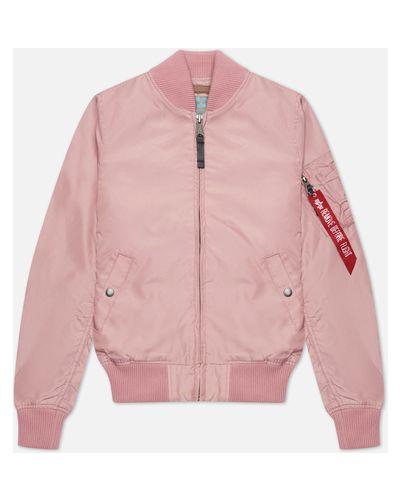 Розовая куртка MA-1 с подкладкой с воротником Alpha Industries
