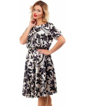 Платье с поясом платье-сарафан на резинке Liza Fashion