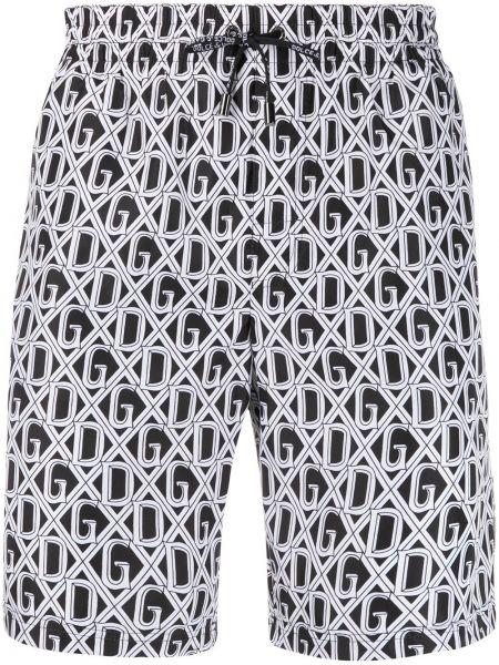Короткие шорты на резинке с карманами Dolce & Gabbana