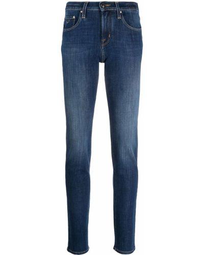 Синие джинсы с нашивками с заклепками Jacob Cohen