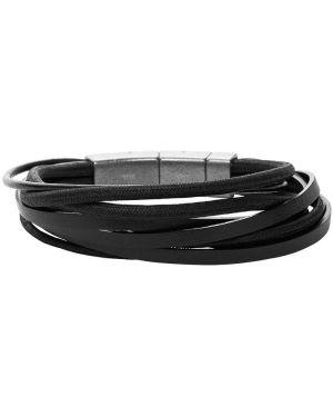 Кожаный браслет - черный Fossil