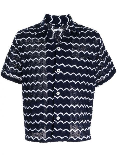 Niebieska koszula z printem Bode