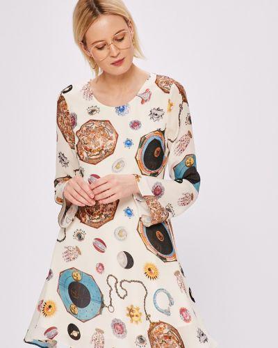 Платье мини с длинными рукавами сетчатое льняное Silvian Heach