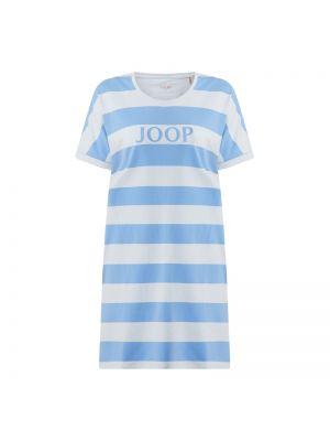 Niebieska koszula nocna bawełniana w paski Joop! Bodywear