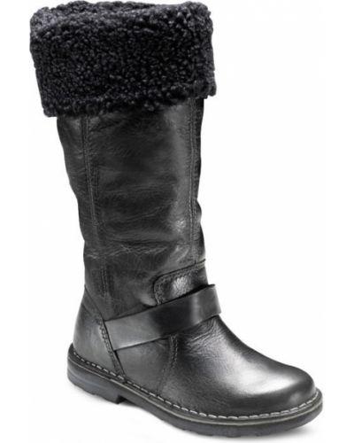 Зимние сапоги кожаные шерстяные Ecco