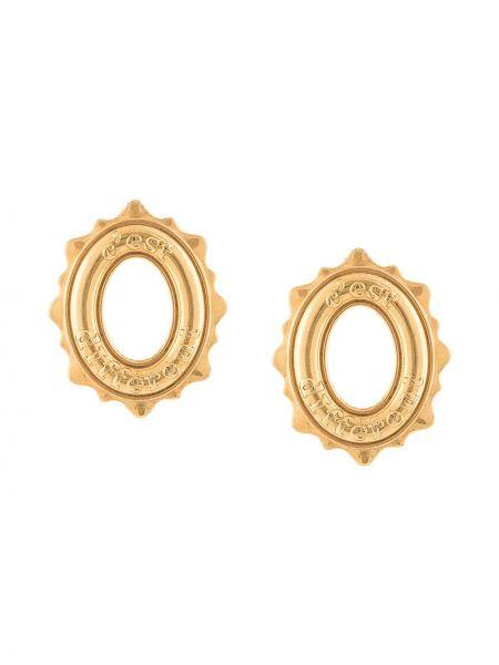 Золотистые желтые золотые серьги позолоченные Natia X Lako