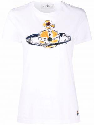 Белая футболка с принтом Vivienne Westwood