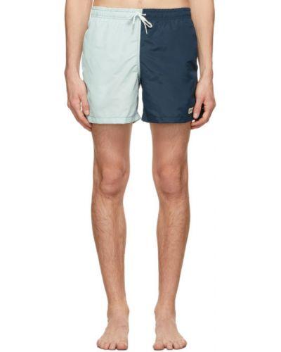 Нейлоновые синие шорты для плаванья с карманами Bather
