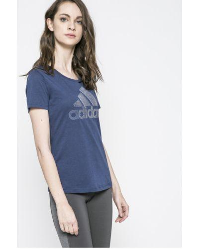 Спортивная футболка прямая хлопковая Adidas Performance