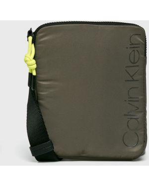 Мерцающая текстильная сумка через плечо Calvin Klein