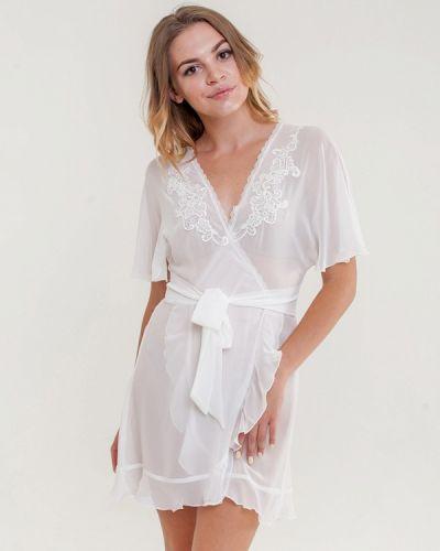 Домашний белый халат Mia-mia