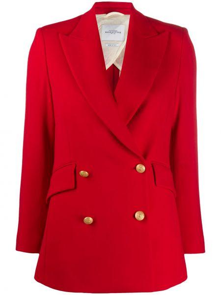 С рукавами красная куртка двубортная Ballantyne
