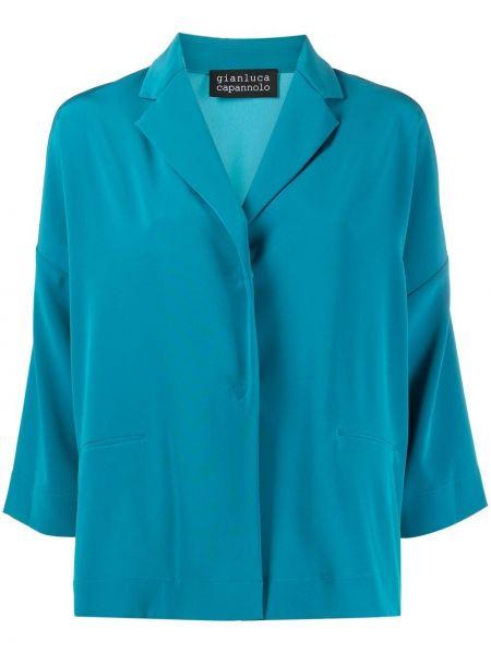 Однобортный синий пиджак на пуговицах Gianluca Capannolo