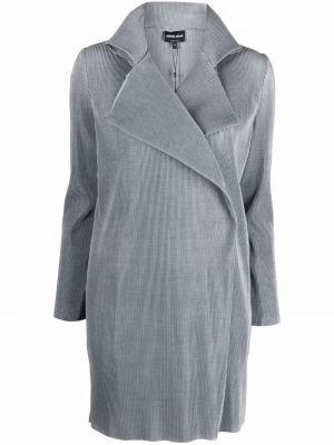 Зеленое пальто из полиэстера Giorgio Armani