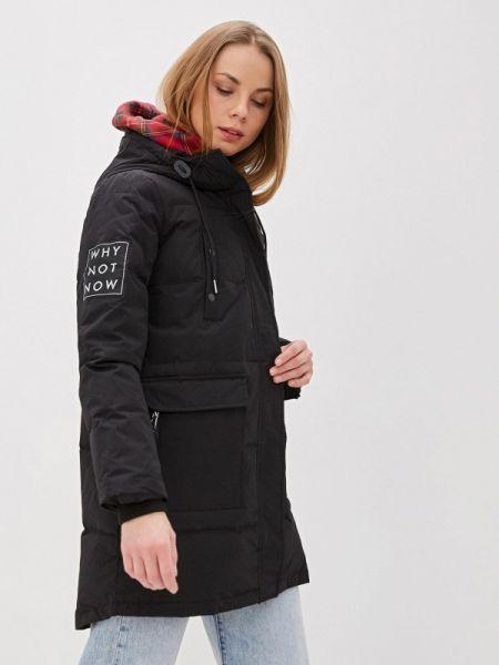 Теплая черная утепленная куртка Colin's