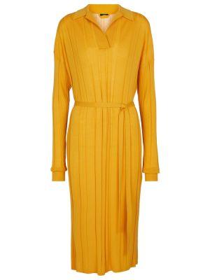 Шерстяное платье - желтое Joseph