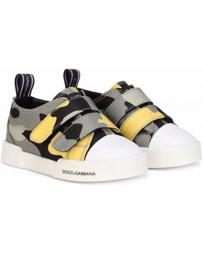 Trampki skorzane Dolce & Gabbana Kids