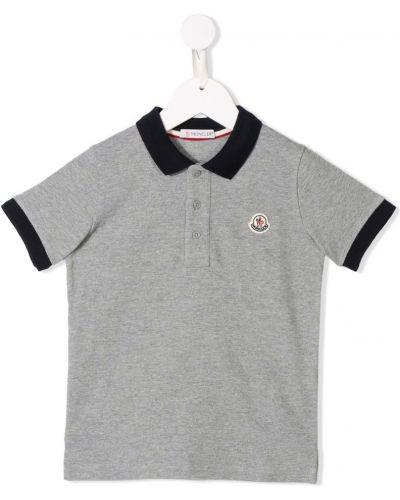 Рубашка серая Moncler Kids