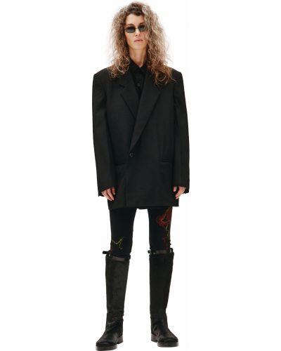 Шерстяной черный пиджак Y`s