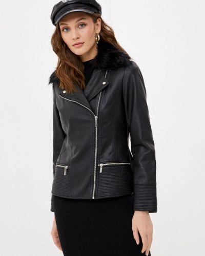 Черная кожаная куртка Wallis