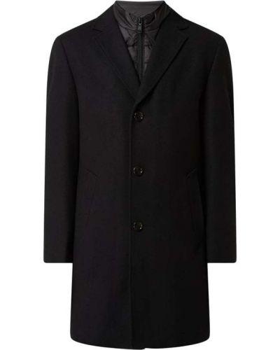 Czarny płaszcz wełniany Digel