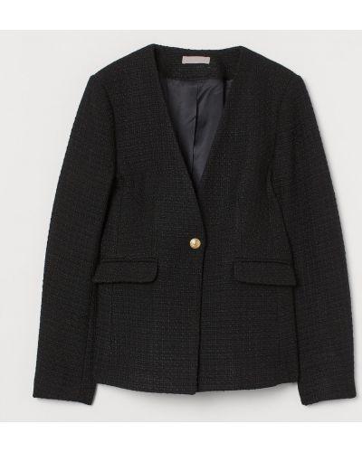 Шерстяной пиджак - черный H&m
