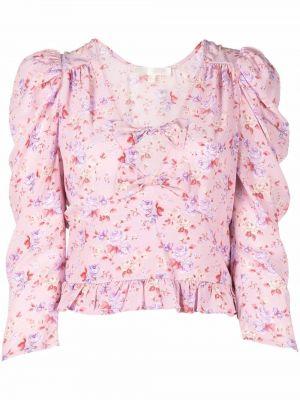 Шелковая блузка - розовая Loveshackfancy