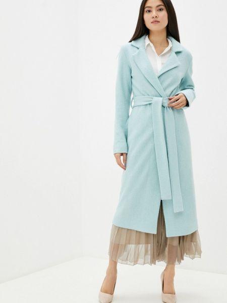 Бирюзовое пальто с капюшоном Toryz