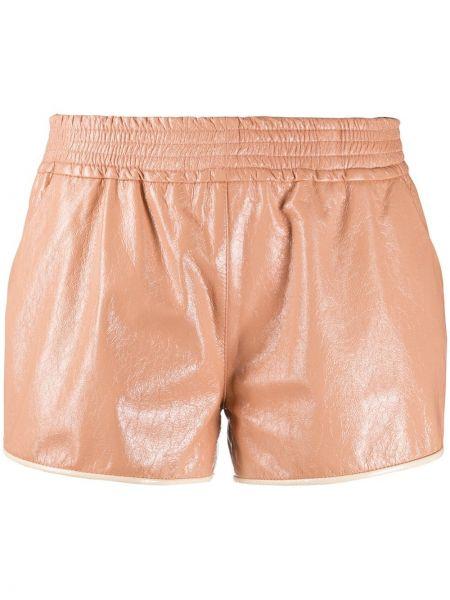Розовые короткие шорты эластичные Drome