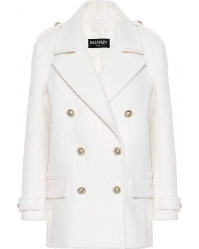 Зимнее пальто шерстяное Balmain