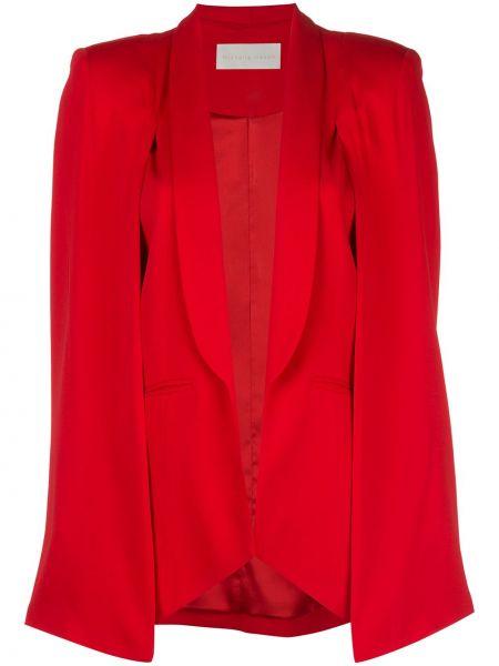 С рукавами красная куртка с подкладкой Michelle Mason