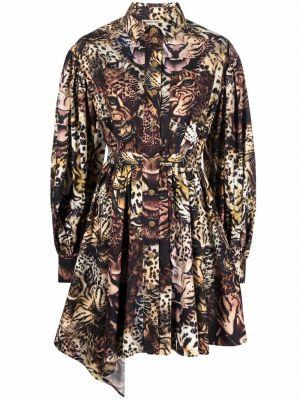 Плиссированное платье - бежевое Roberto Cavalli