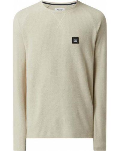 Sweter bawełniany - beżowy Marc O'polo Denim